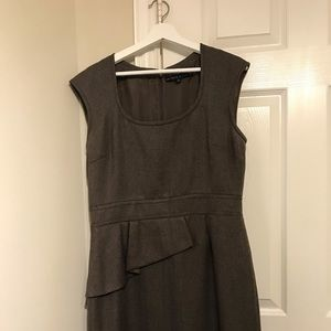 Antonio Melani brown tweed sleeveless dress